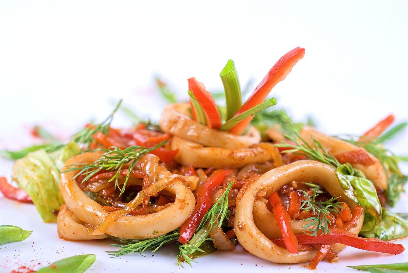Ojinguh Chomuchim (Spicy Squid Salad)